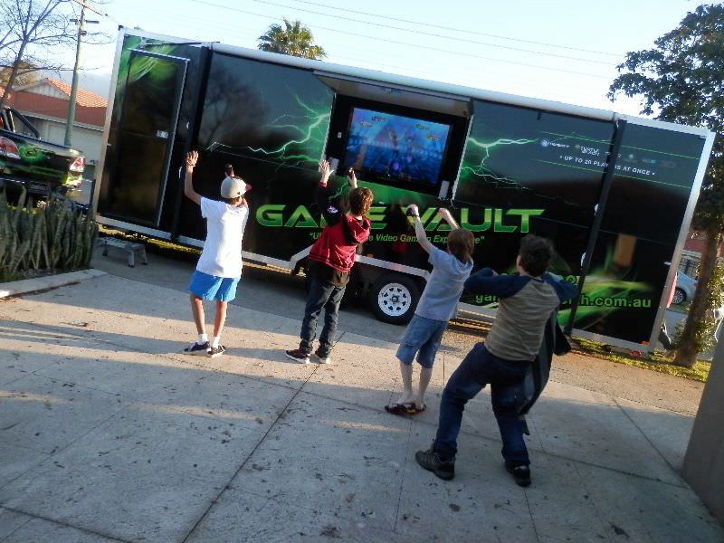 Game Vault and kids enjoying