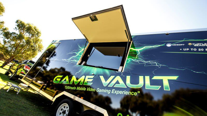 Game Vault truck from outside