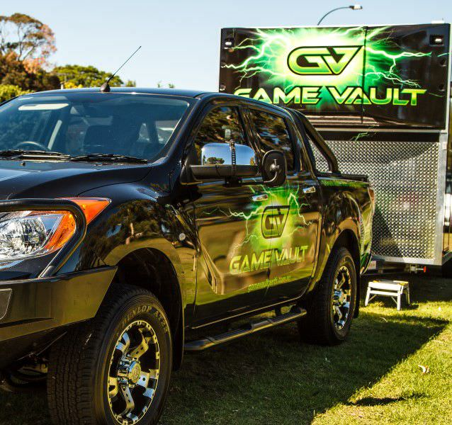 Game Vault -When you see our truck, it's game time
