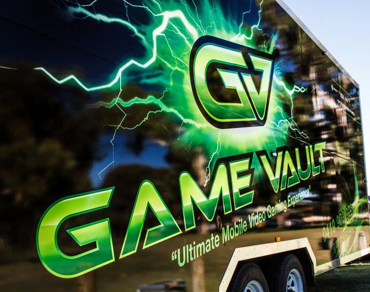 Game Vault - side view of our truck