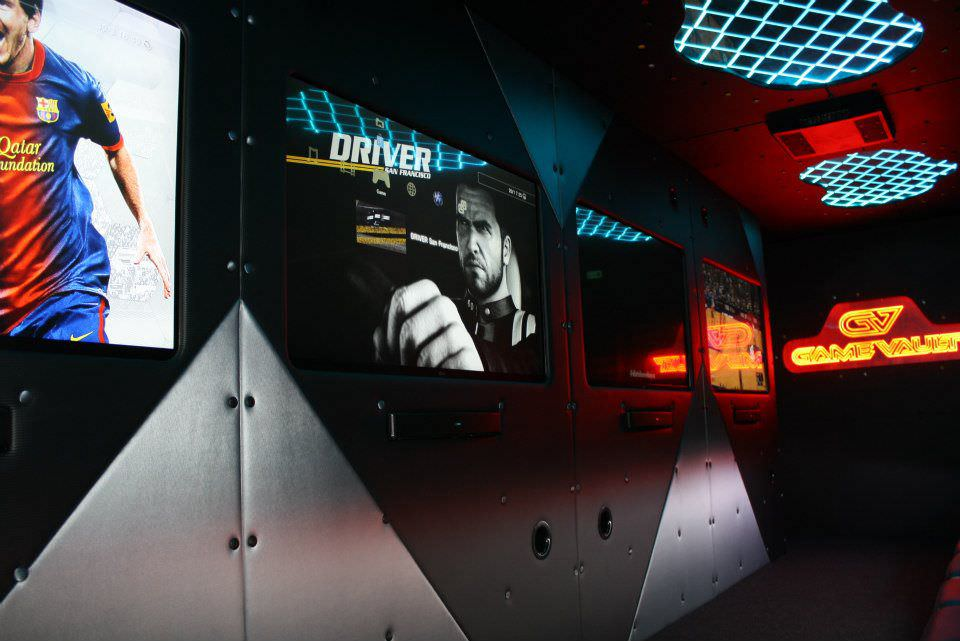 Game Vault - Our trucks equipped with multiple screens to accommodate everyone!