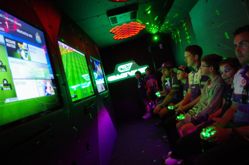 Game Vault provide the party bus for a Perth Glory corporate event